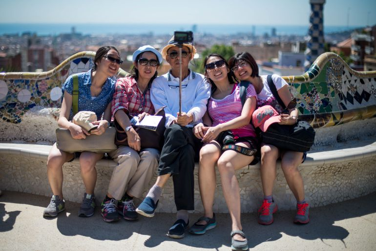 Turistes al Park Güell