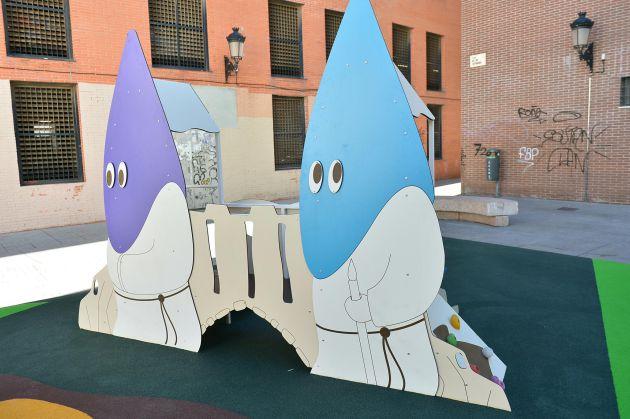 La zona de Nazarenos ocupa una de las partes del parque infantil de Málaga
