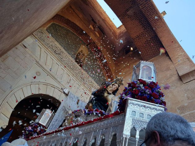 Procesión de la Virgen de la Alhambra en Granada