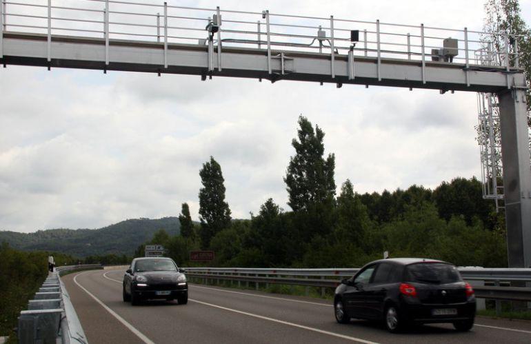 Un radar de tram a les carreteres de Girona.