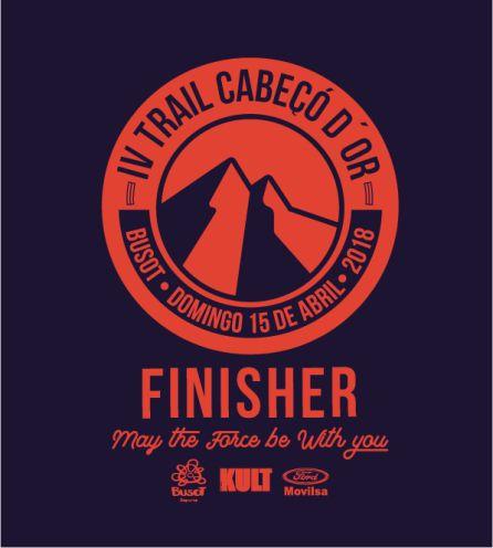 Imagen de la camiseta finisher en el IV Trail Cabeçó d'Or-Busot