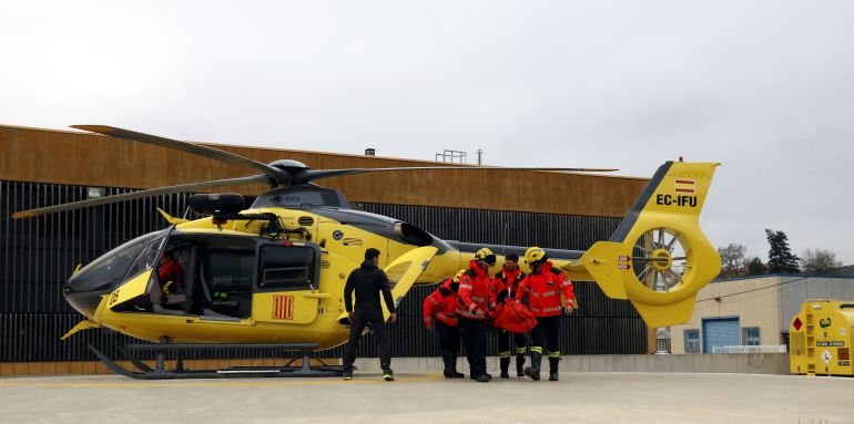 Els equips de rescat.