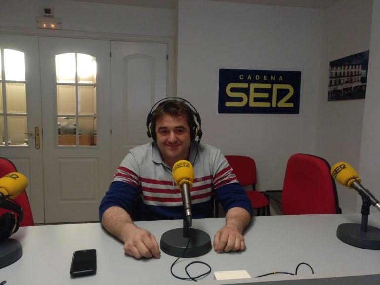 Abel Larrad, gerente de Gráficas Larrad, empresa de Tudela.