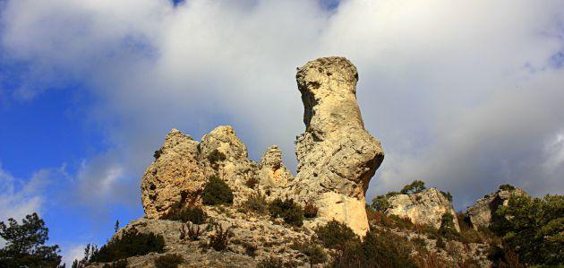 El yunque del Castillo de los Siete Condes.