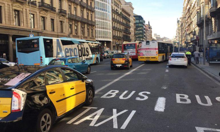 Les multes per circular pel carril bus creixen un 70%