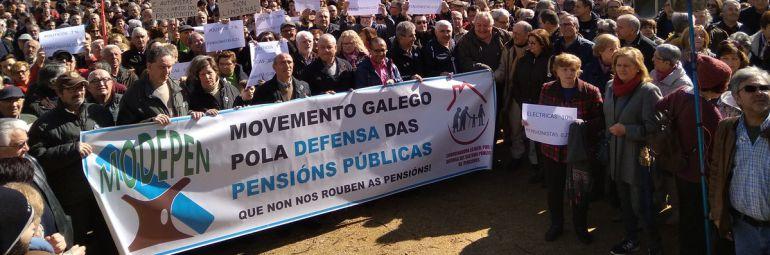 Manifestación por las pensiones dignas en Pontevedra