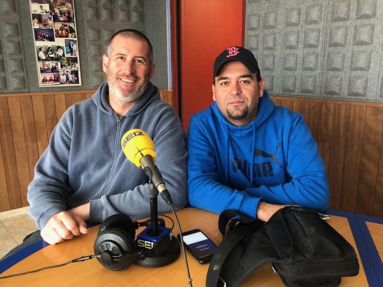 Richard Gutiérrez y Francisco Javier Cañete, de Senderistas Sin Fronteras.
