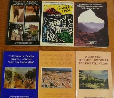 varios libros editados de las jornadas
