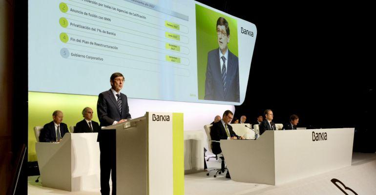 Goirigolzarri en la Junta de Accionistas de Bankia 2018