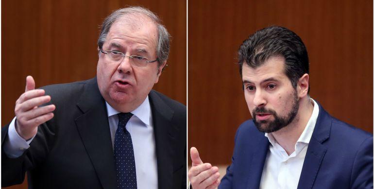 Juan Vicente Herrera y Luis Tudanca en el Pleno de las Cortes