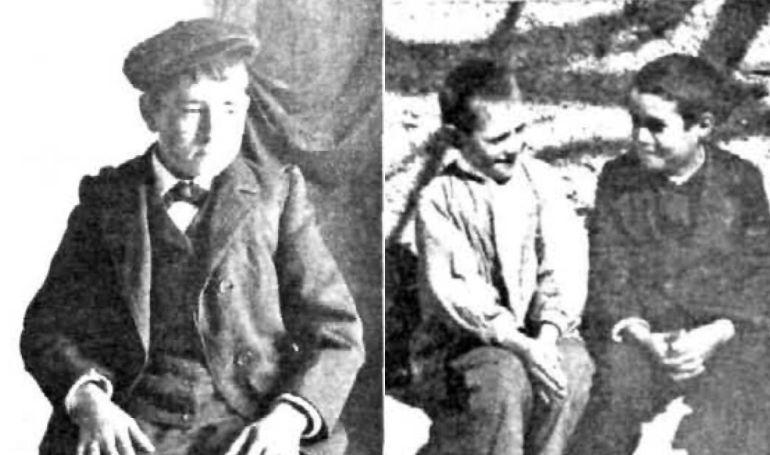 El niño Francisco Requena (izq.) y los niños Gregorio López y Alejandro Mena.