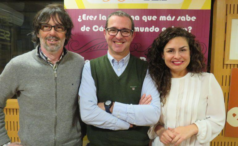 José Manuel Ramos 'Pichili', Alberto Romero y Laura Jurado, en la segunda preliminar del Doctorado Honoris Cádiz