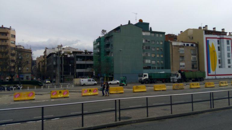 La Plaça Espanya ja no té les marquesines de l'estació d'autobusos.