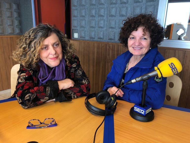 Las portavoces de PROU, en los estudios de Radio Ibiza