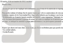 Un mail de la coordinadora del máster pone en duda que Cifuentes se examinara del TFM