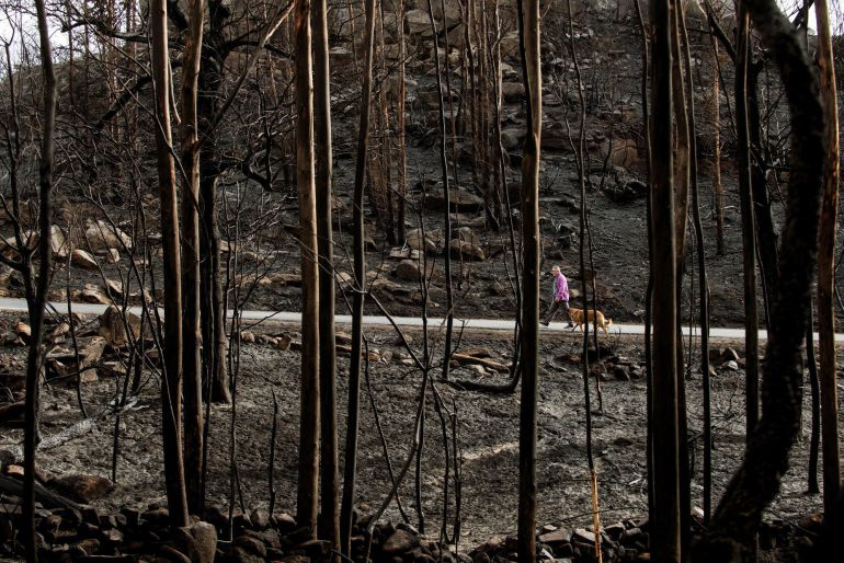 Imagen de archivo de un incendio en Melón.
