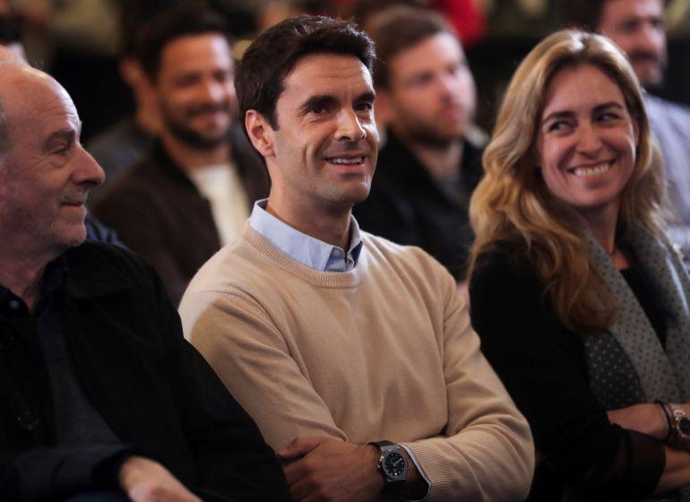 Xabi Prieto sonríe en un momento de su despedida en el palco de Anoeta