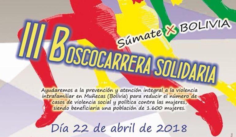 Cartel de la III Boscocarrera Solidaria que se celebrará el 22 de abril