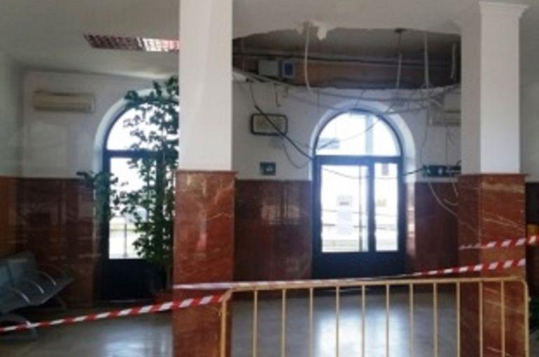 Vestíbulo de la estación del ferrocarril de Don Benito