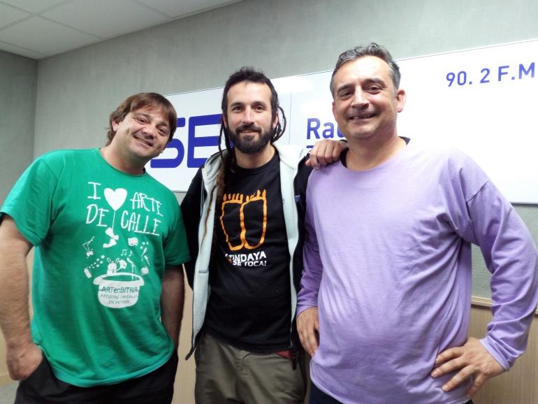 Quique Montoya, Feo Flip y Fernando Gomis en Radio Elda