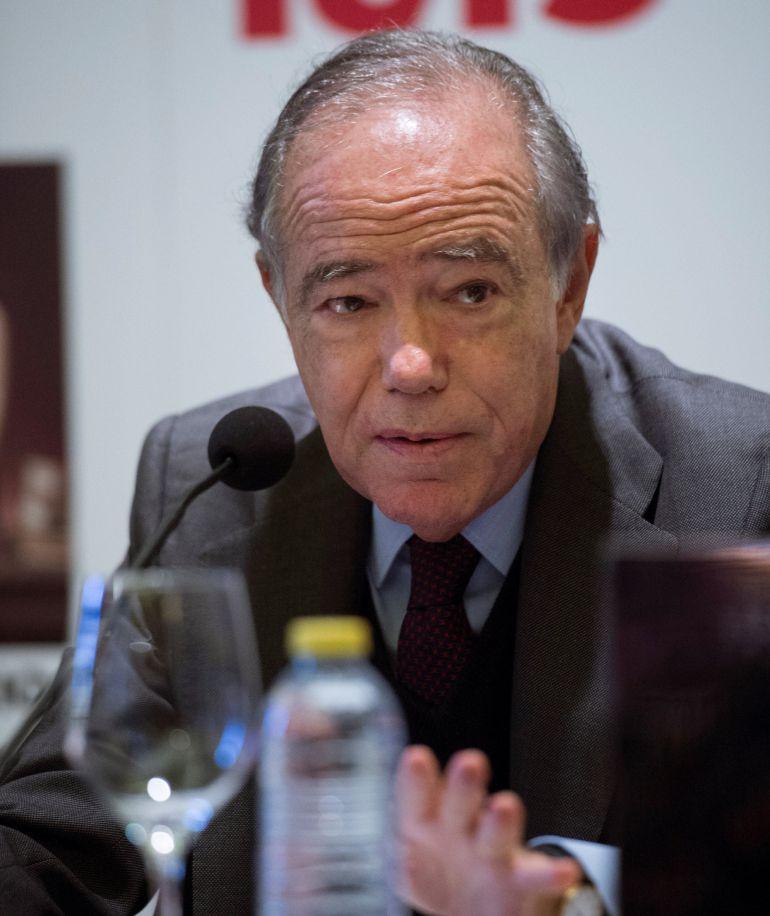 El presidente del patronato del Real, Gregorio Marañón, en la presentación de la programación de la temporada 2018-2019.