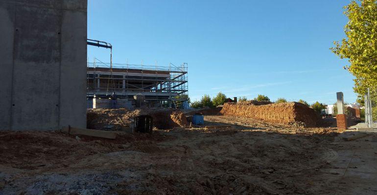 Obras de construcción del nuevo instituto de Paracuellos de Jarama
