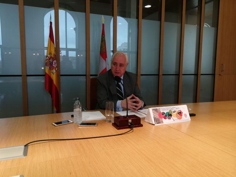 El presidente del Tribunal Superior de Justicia de Castilla y León, José Luis Concepción, presenta la Memoria Anual de la institución