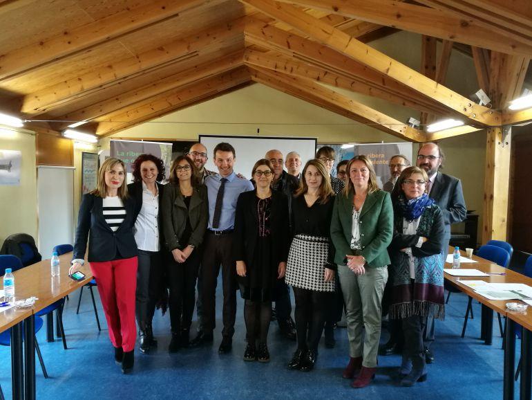 Varios de los participantes en el grupo de trabajo con Clermont Ferrand