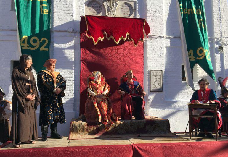 Recreación histórica de las Capitulaciones de Santa Fe