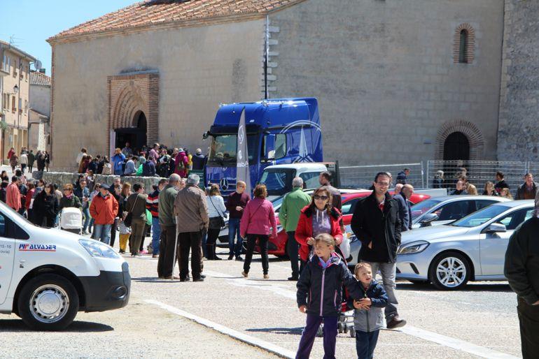Visitantes de la Feria Comarcal de Cuéllar el pasado año