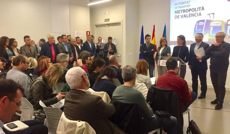 Los alcaldes del área metropolitana de Valencia se manifestarán en Madrid por la falta de presupuesto del Gobierno Central para el transporte metropolitano