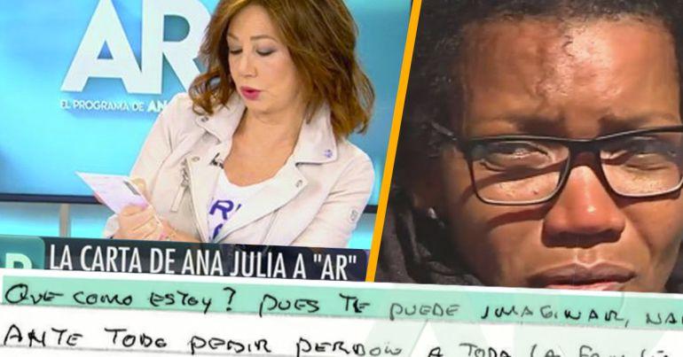 Ana Julia escribe una carta en exclusiva a Ana Rosa Quintana contando su versión del asesinato de Gabriel.