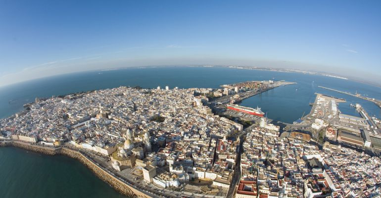 Imagen aérea de Cádiz