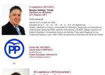 Tomás Burgos elimina masters de su CV
