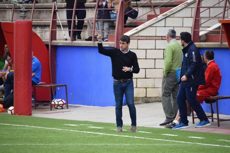Pepe Masegosa durante el partido ante La Palma
