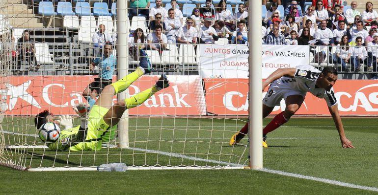 Aridane adelantó al equipo manchego en la primera parte