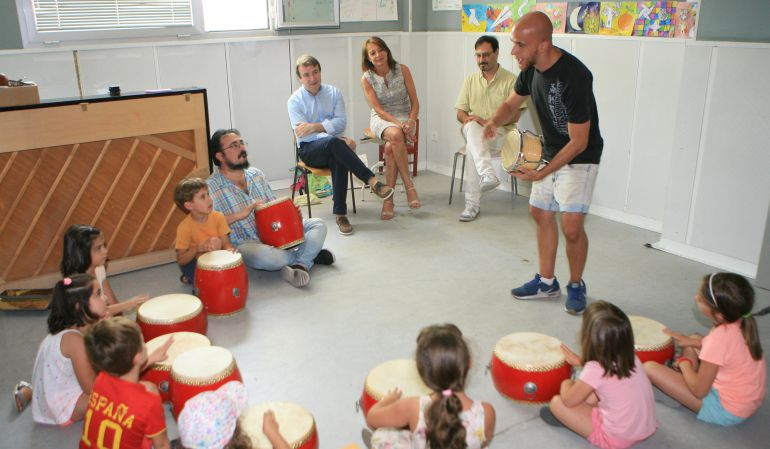Imagen de archivo de un taller de educación musical infantil