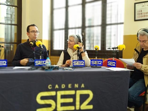 Córdoba Hoy por Hoy desde el IES Maimónides. José María Martín, Oliva Acosta y Ramón Medina.