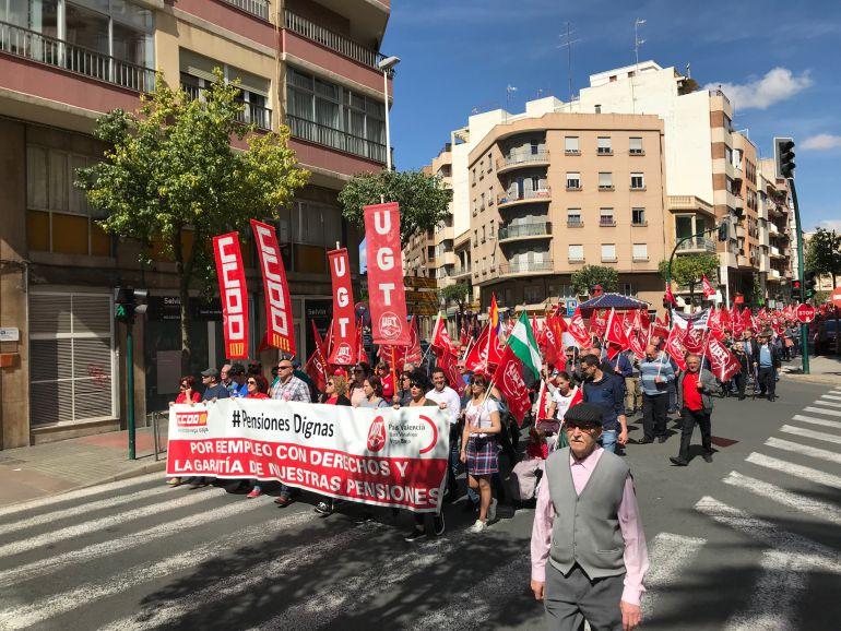 Manifestación pensiones Elche