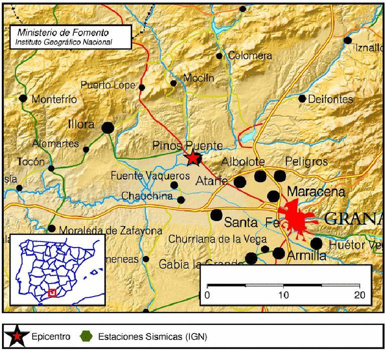 Terremoto en Pinos Puente (Granada) a las 08.04h de este lunes