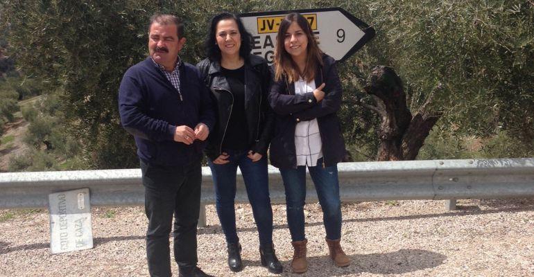 El diputado de Infraestructuras Municipales, José Castro, junto a la alcaldesa en funciones, Mercedes Soria.