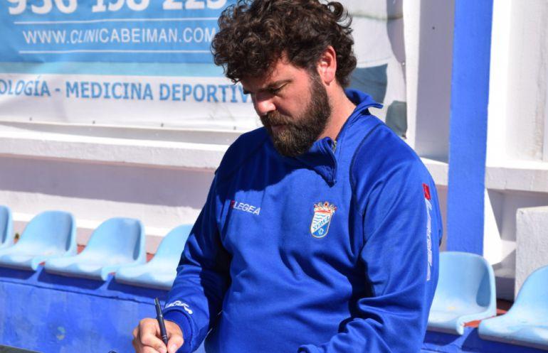 Juan Pedro Ramos durante un partido en Guadalcacín
