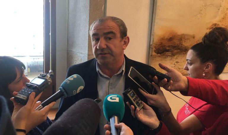 Darío Campos, presidente de la Diputación de Lugo, avanzando que no irán a Pol a la convocatoria de SUPLUSA