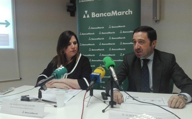 Marilén Palou y Alberto del Cid presentaron los datos de Banca March.