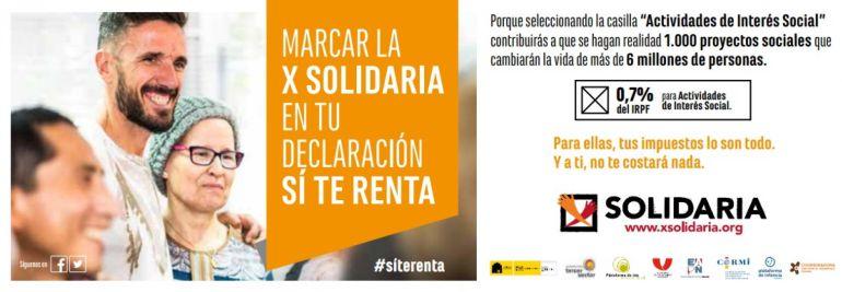 Sólo el 27,4% de los contribuyentes murcianos marca la 'X Solidaria' y la 'X' de la Iglesia conjuntamente
