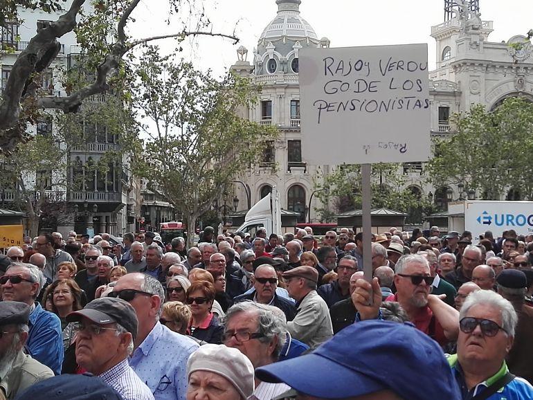 Manifestación de pensionistas en Valencia
