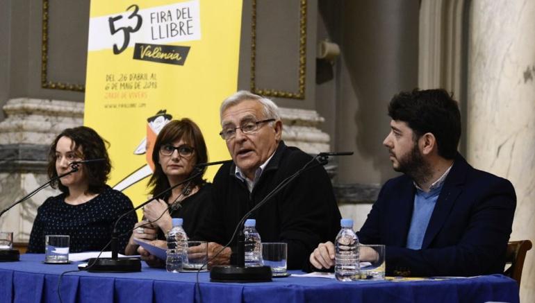 El alcalde de Valencia, Joan Ribó, en la presentación de la Feria del Libro