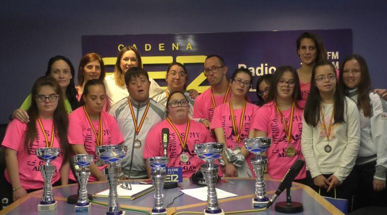 Algunos de los 21 integrantes del equipo del Club Algar que han participado en el campeonato de España