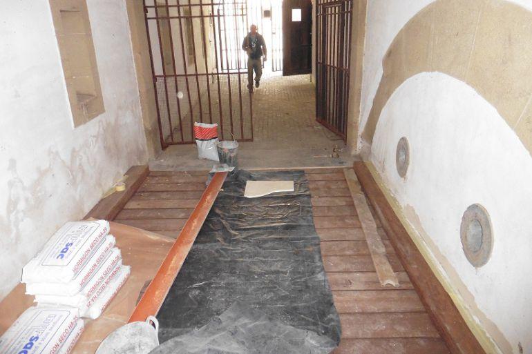 El acceso al interior del Fuerte de Guadalupe ha sido mejorado con las obras recientes.
