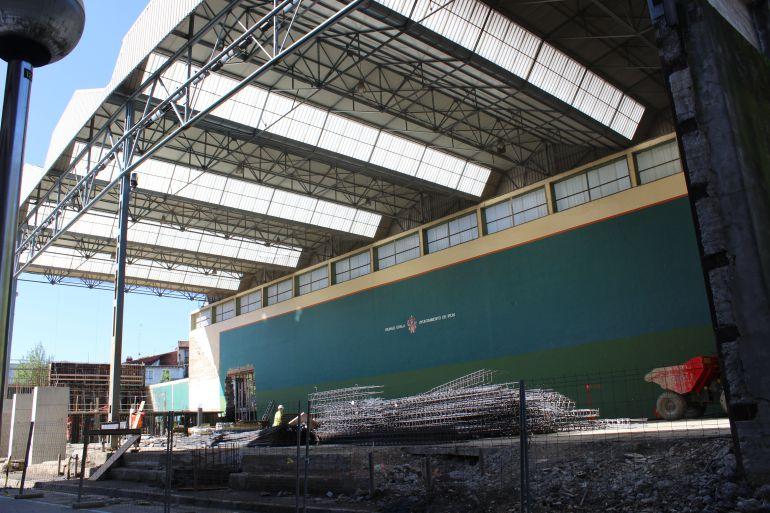 Ya se trabaja en la estructura del nuevo módulo de entrada desde el parque de la Sargía